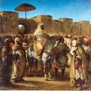 Eugene Delacroix Sultan de Marruecos abandonando su palacio, 1832