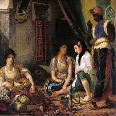 Mujeres argelinas en su casa, 1834