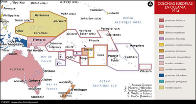 Colonias europeas en Oceanía