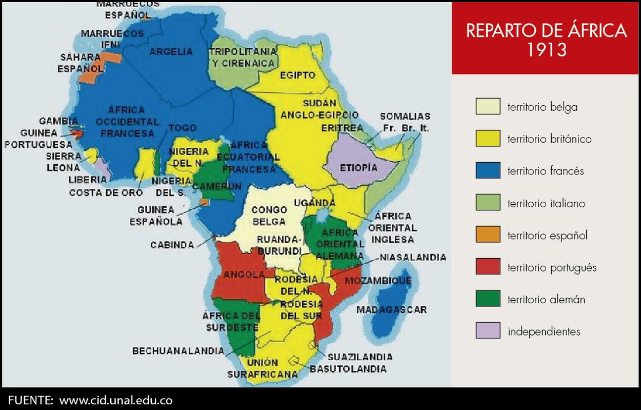 Resultado de imagen de mapa reparto africa