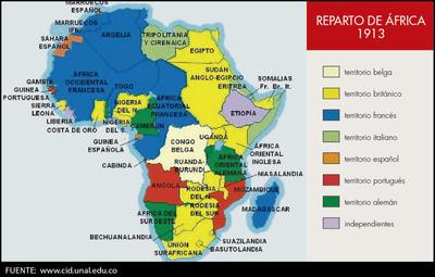 El reparto de África (1913)