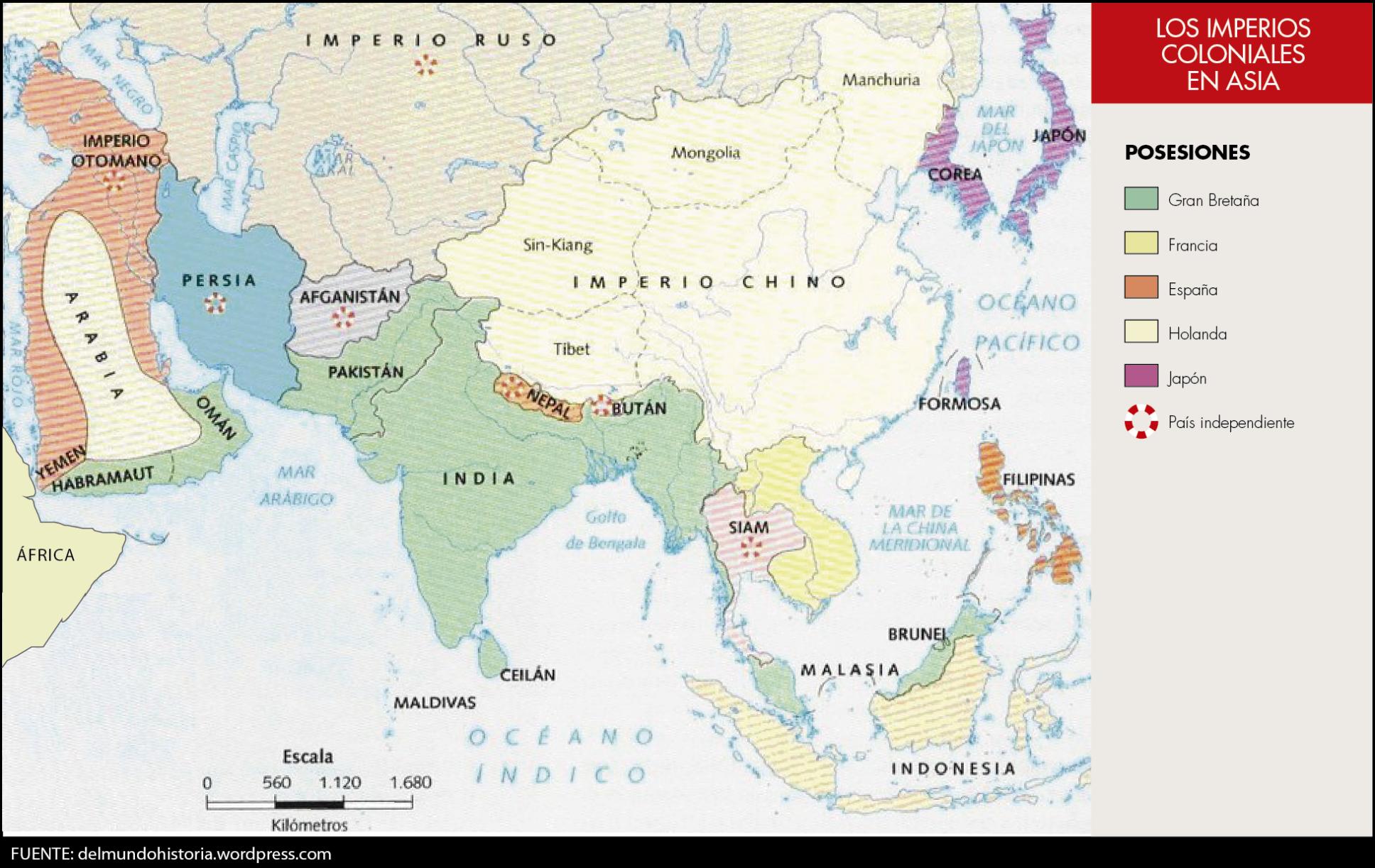 Los imperios coloniales en Asia  Carpetas Docentes de Historia