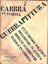 CARLO CARRÁ, GUERRAPINTURA (1915). PORTADA DEL LIBRO.