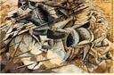UMBERTO BOCCIONI, LA CARGA DE LAS LANZAS (1915).