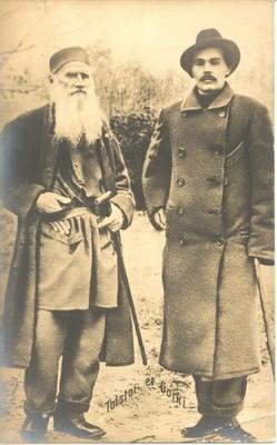 GORKI (1868-1936) CON SU ADMIRADO TOLSTOI
