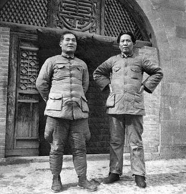 Mao y Zhang Guotao en Yan´an