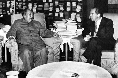 ENCUENTRO ENTRE NIXON y MAO EN FEBRERO DE 1972