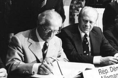 FIRMA DEL ACTA DE HELSINKI EN AGOSTO DE 1975
