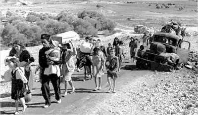 PALESTINOS EXPULSADOS EN 1948.