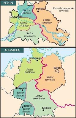 La división de Alemania y Berlín